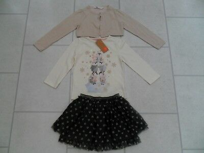 Girls Party Skirt, Cardigan & Top Christmas Outfit Age 2/3 Years Inc New