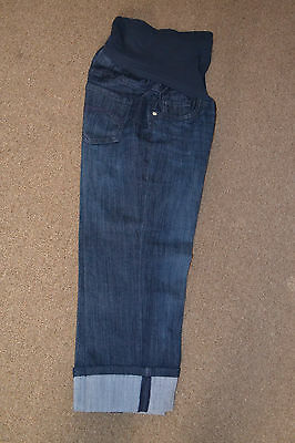 d2a299fb03ad3 Maternity Oh Baby by Motherhood™ Secret Fit Belly™ Cuffed Capri Jeans sz M  NEW
