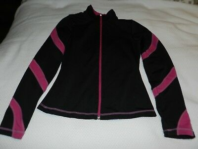 Chloe Noel ice skating jacket fuchsia spiral CM (Child's Medium)