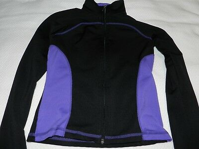 Chloe Noel ice skating jacket purple and black CM (Child's Medium)