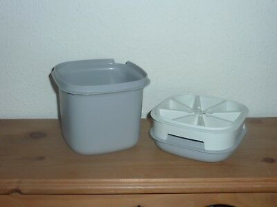 Tupperware Vintage Grey Ice Bucket & 1 Ice Cube Tray All in Good Condition.