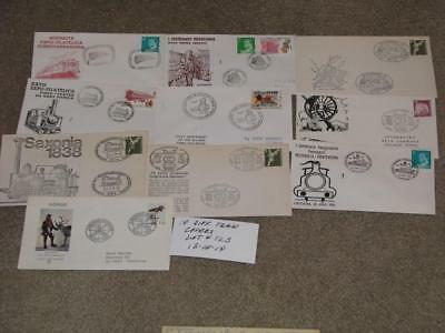 10 Different covers with Train Cachets & Stamps from around the world, Lot# TC3