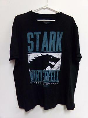 Game of Thrones Shirt Black Size XXL Stark Winterfell Graphic Tee HBO GUC