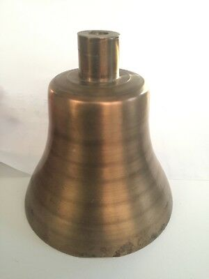 Vintage Bronze Bell Railroad Steam Locomotive Train Crossing No Clapper or Yoke