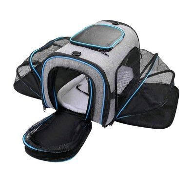Siivton Pet Carrier for Dog, Cat, Puppy, Portable Four-sides Expandable Airline