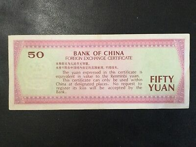 1979 Bank Of China Paper Money - 50 Foreign Exchange Banknote!