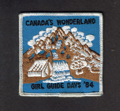 Girl Guides Canada 1984 G.g. Days Canada's Wonderland Patch Scouts Brownies Cubs