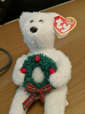 6ffd33bf21a TY Beanie Baby - MERRIMENT the Bear (BBOM December 2006) (8.5 inch)
