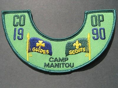 """Girl Guides & Boy Scouts Canada Camp Manitou Co-Op 1990 6"""" Cubs Brownies"""