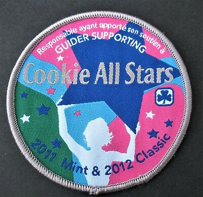 Girl Guides Canada Cookie All Stars 2011 & 2012 Patch Brownies Scouts