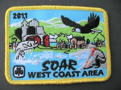 Girl Guides Canada  Soar 2011 West Coast B.c. Embroidered Patch Brownies Scouts