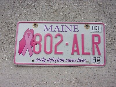 Maine early detection saves lives license plate   #   802 - ALR