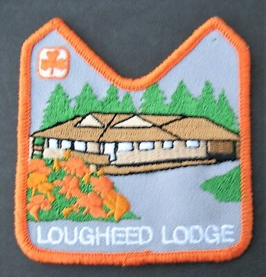 Girl Guides Canada Lougheed Lodge Burnaby B. C. Patch Brownies Sparks Orange