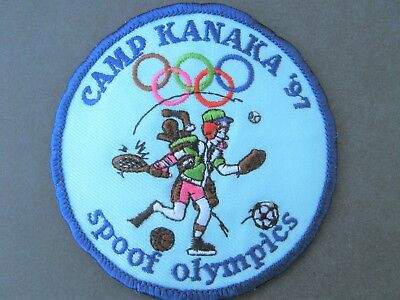 Girl Guides Canada Camp Kanaka 1997 Spoof Olympics Embroidered Patch Brownies