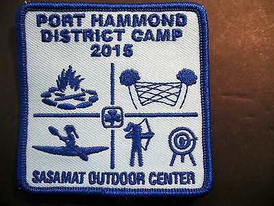 Girl Guides Canada  Port Hammond Camp 2015 Sasamat Center Patch Scouts Brownies