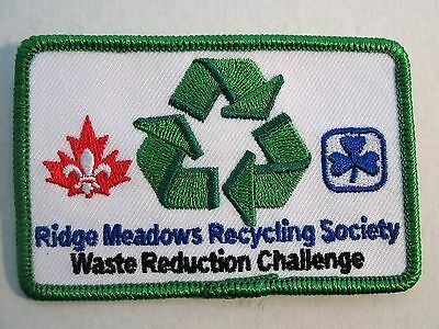 Girl Guides Boy Scouts Canada  Ridge Meadows Recycling Challenge Patch  Cubs