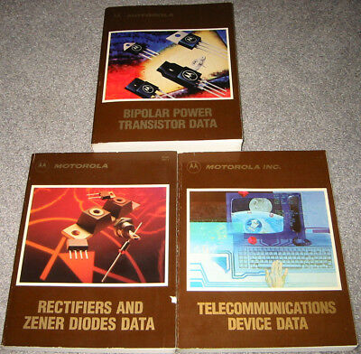 3 Motorola Data Books - 1987 Bipolar Power, Diode, and Telecommunications