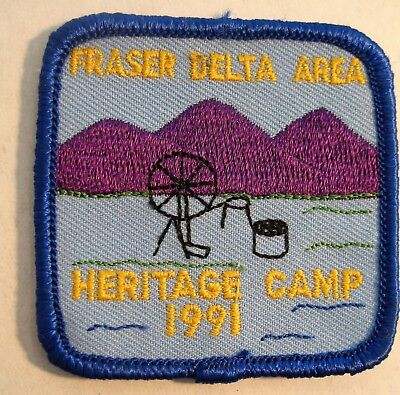 Girl Guides Canada 1991 Fraser Delta Area Heritage Camp Patch Scouts Brownies