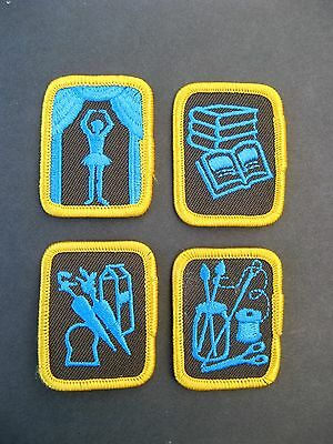 Girl Guides Canada  4 Brownie Merit Badges Profficiency Scouts Guiding
