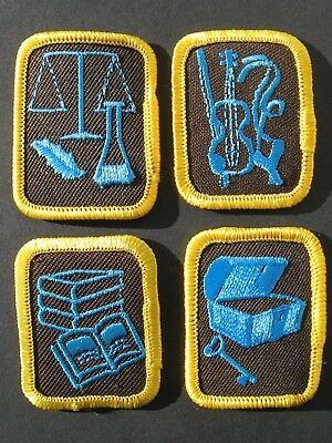 Girl Guides Canada Brownies 4 Merit Badges Reading Science Music