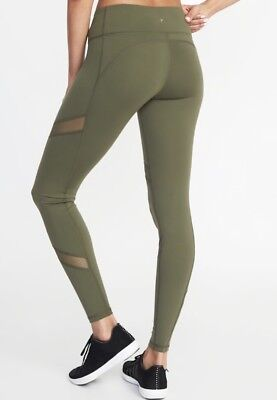 970d498df0 OLD NAVY ACTIVE Mid-Rise Mesh-Panel Compression Leggings Size XXL ...