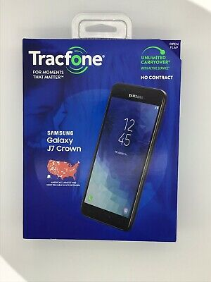 """TRACFONE SAMSUNG J7 Crown 4G LTE 5 5"""" HD 16GB 13MP Smartphone W/ Android  Oreo"""