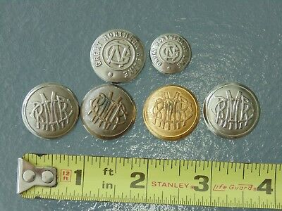 Rare Vintage Great Northern RR Railroad Coat Cover Buttons Lot as seen GNRR