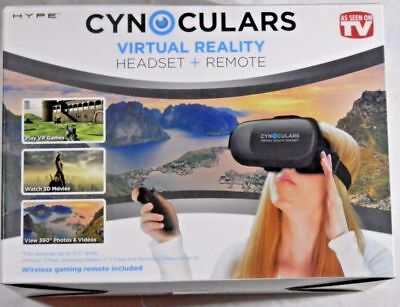 Cynoculars Virtual Reality Headset with wireless gaming remote - Brand New