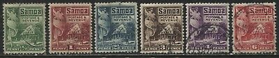 Samoa 1921 various values from 1/2d to 6d used