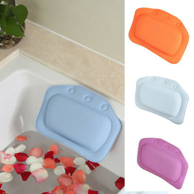 Bathtub Pillow Suction Cups Spa Headrest Soft Neck Support Home Bathroom Supply
