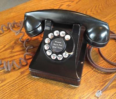 """First Year 1937 """"Holy Grail"""" of Western Electric #302 Rotary Dial Telephone"""