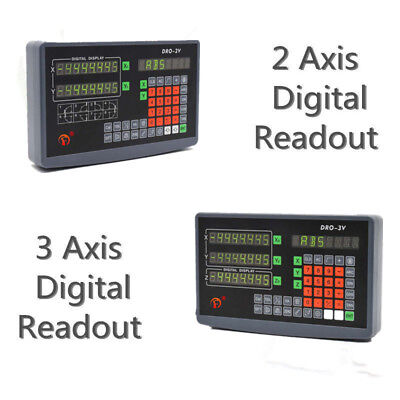 2/3 Axis Digital Readout Display 5μm DRO Kit For CNC Milling Lathe Linear Scale