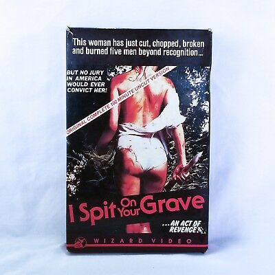 I Spit on Your Grave Uncut VHS RARE Red Clamshell - Big Box Wizard Video