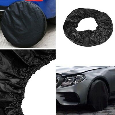 "28"" Black Spare Wheel Tire Tyre Cover Waterproof For Car Trailer RV SUV Truck US"