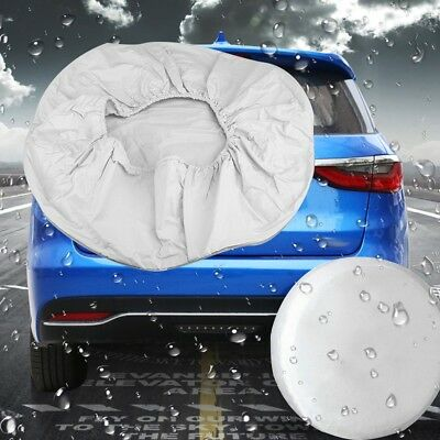 "28"" White Spare Wheel Tire Tyre Cover Waterproof For Car Trailer RV SUV Truck US"