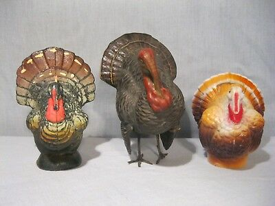 Vintage Turkey Candy Container lot