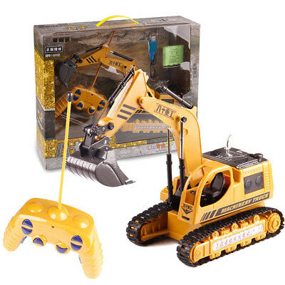US RC Construction Truck Excavator Digger Remote Control Bulldozer Kids Car Toy