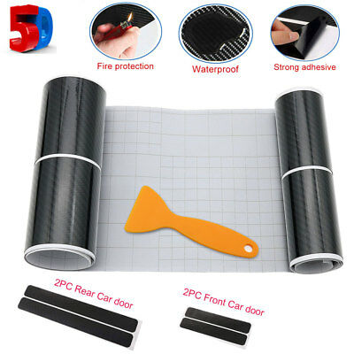 "4PCS 5D Car Carbon Fiber Sticker Door Sill Graphic Decal 40/60x7cm(16""/24""x3"")"