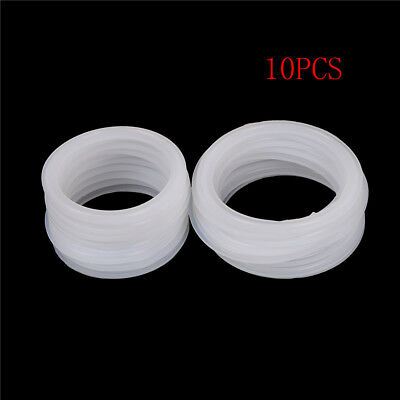 10Pcs Silicon Gasket Fits 77.5mm-91mm OD Sanitary Tri Clamp Type Ferrule