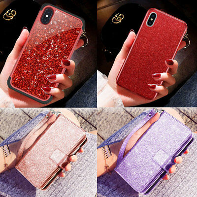 Bling Glitter Sparkle Pink Shockproof Cute Protective Case For iPhone XS Max