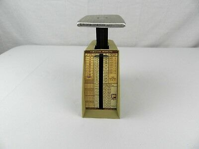 RARE VINTAGE Pelouze Postage Scale Model P-2 2 lb x 1/2 oz EUROPE ASIA AIR MAIL