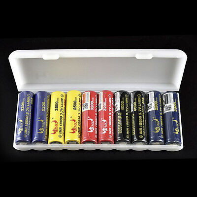 10PC Portable Battery Case Cover Holder Storage Box for 18650 AA AAA Batteries