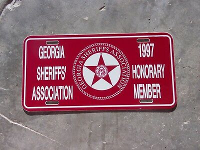 Georgia 1997 Sheriffs' Honorary Association Member license plate