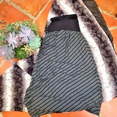 Motherhood Maternity Skirt S Small Maxi, Soft Cotton and Stretchy Black/Grey