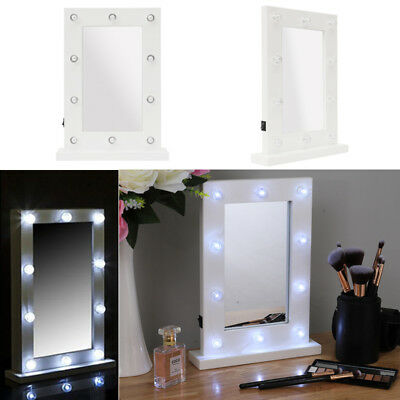 10 Bulbs Hollywood Light Up Led Dressing Table Cosmetic Vanity Mirror Makeup Uk