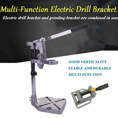 Electric Drill Holder Bench Press Grinder Bracket Table Stand Clamp Base + Plier