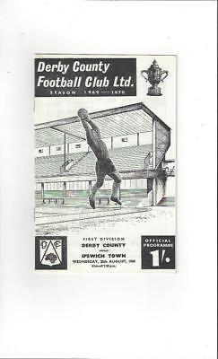 Derby County v Ipswich Town 1969/70 Football Programme