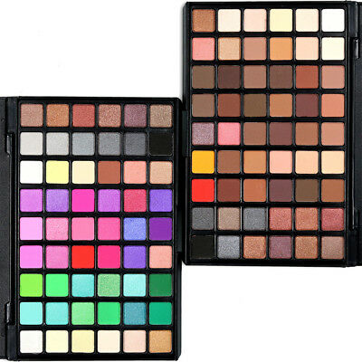 54 Colors Pro Cosmetic Powder Eyeshadow Palette Makeup Natural Shimmer Matt Set