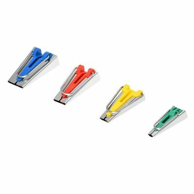 Set of 4 Size Fabric Bias Tape Maker Tool Sewing Quilting 6mm/12mm/18mm/25mm  M5