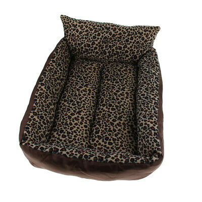 Leopard Print Pet Sofa Lounger Bed for Medium or Small Pets Dogs